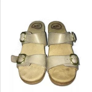 Dansko Wedge Sandals Clogs Leather Shoes 8